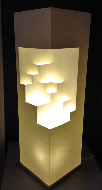 Block Paper Lamp  approx. 22x7x7  mm  $150