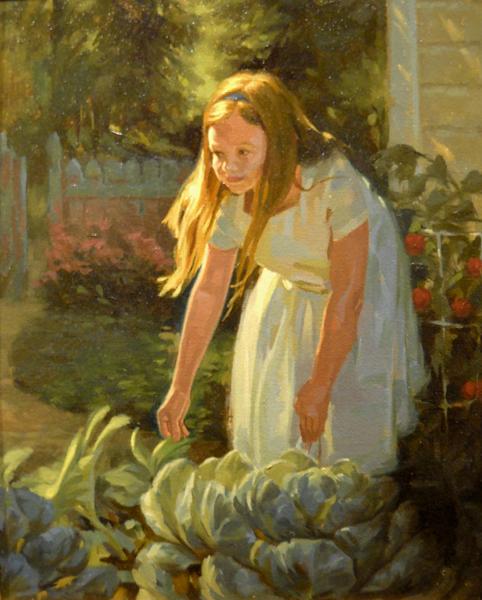 Maddie's Garden 14x11 oc $1,200
