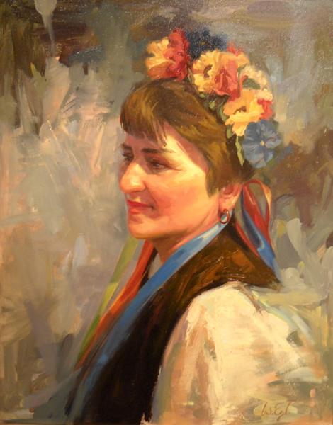 Ukranian Woman 20x16 oc $1,550