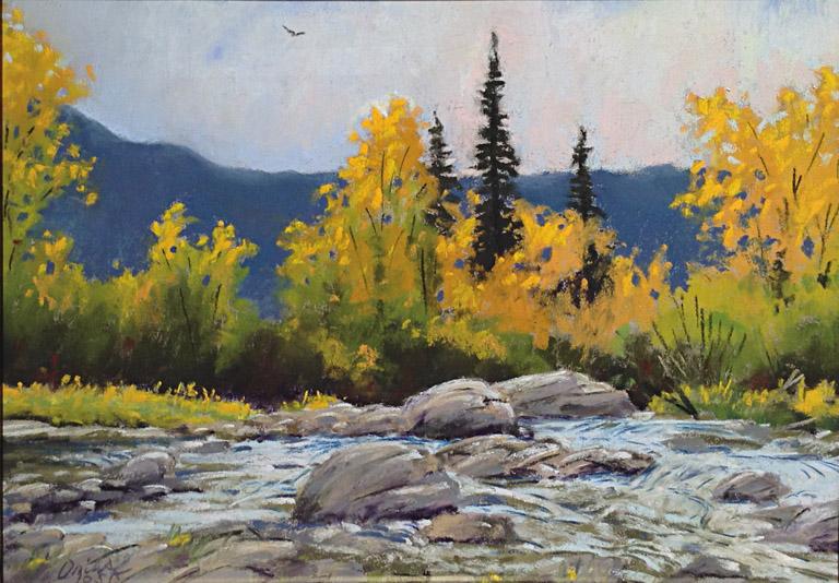 Autumn Color 9x12 pastel $750 fr