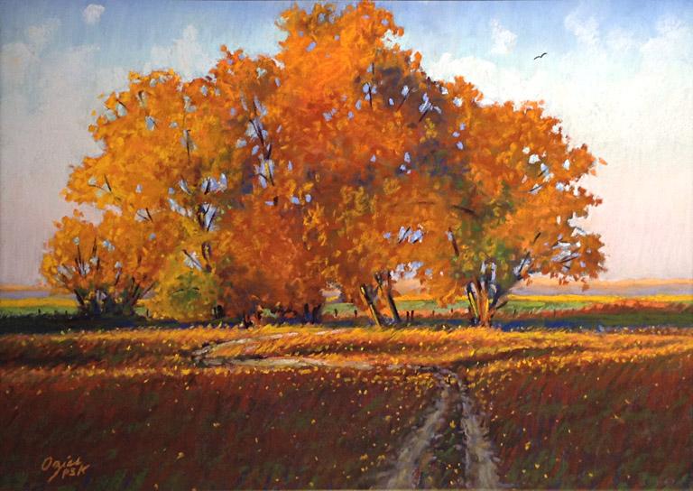 Autumn Morning 12x16 pastel $750 fr