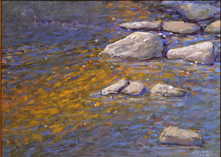 Clear Water  12x16  pastel  $975 fr
