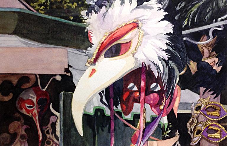 Carnival in Venice 7x11 wc $225 fr