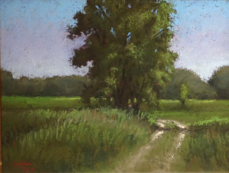 The Road to the River  8x10  pastel  $325 fr