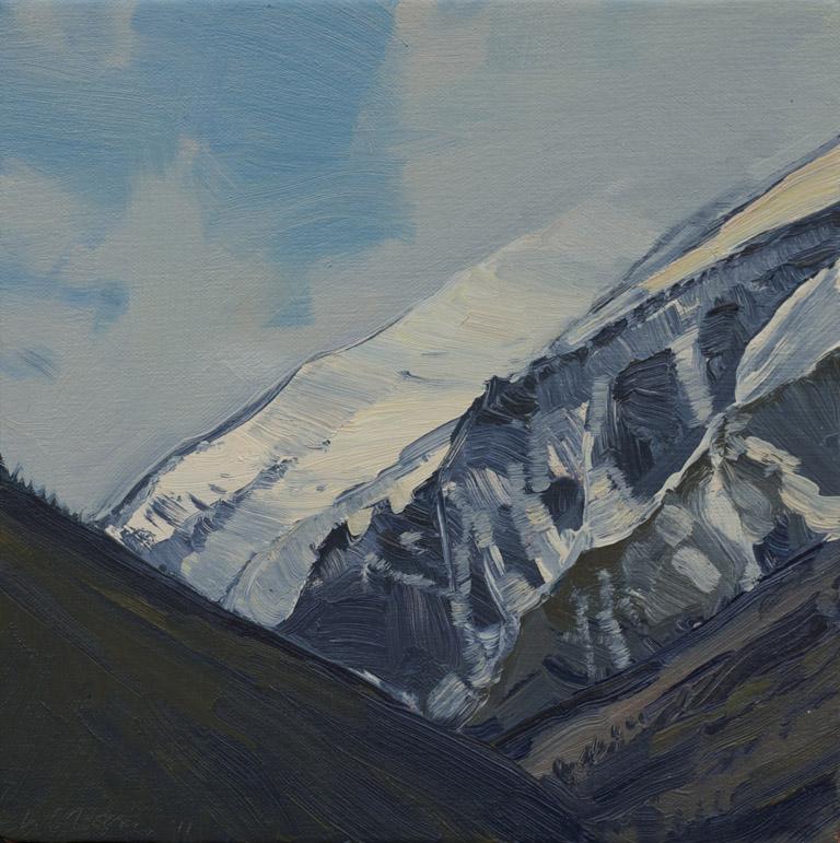 Bitterroot Peaks II - 2011 9x12 oc $700 fr
