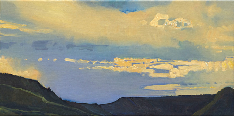 Clouds Over Creede - 2012  12x24  oc  $1,200 fr