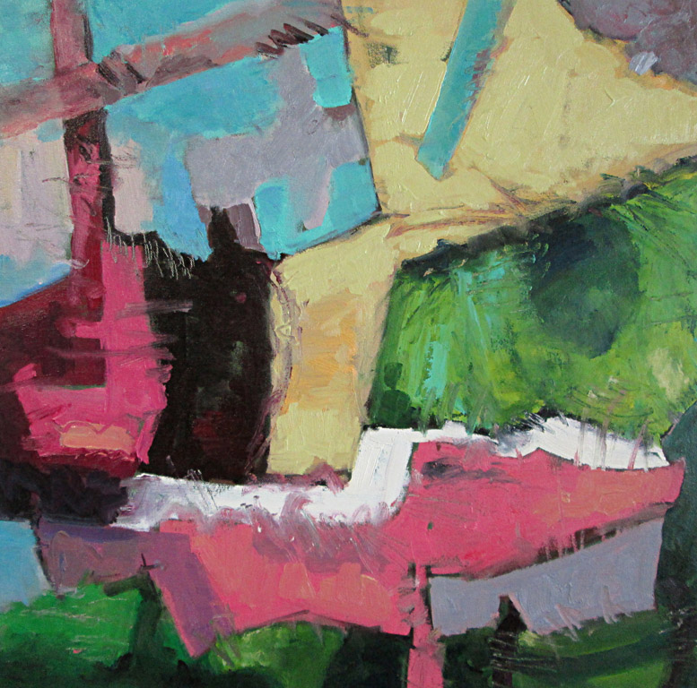 Pink Chair  20x20  oc  $600