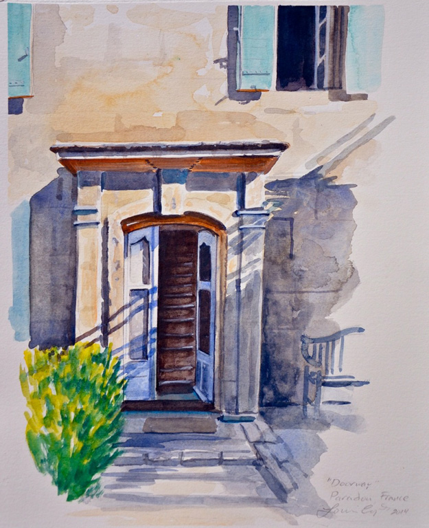 Doorway, Paradou, France 14x11 uf, 23x19 fr wc $650