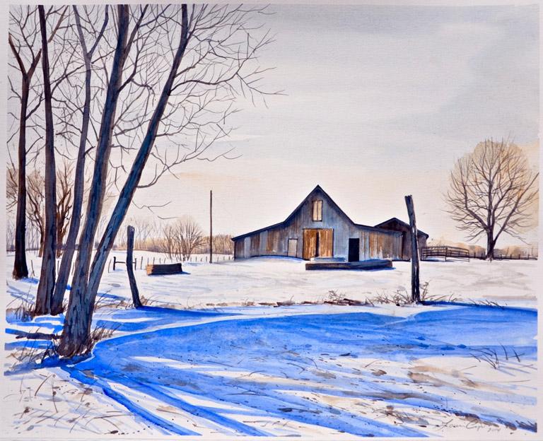 Winter Farm 16x20 uf, 21x29 fr wc $975