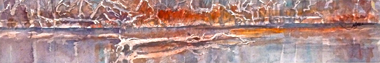 Autumn River  3x18  wc  $250 fr
