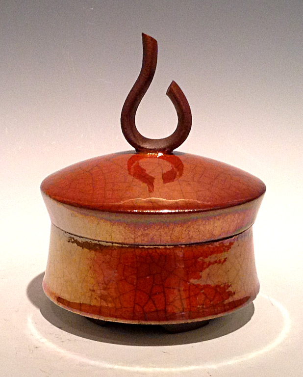Medium Lidded Pot - Ferric (#52)  6.5x5.5x5.5  ceramic  $275