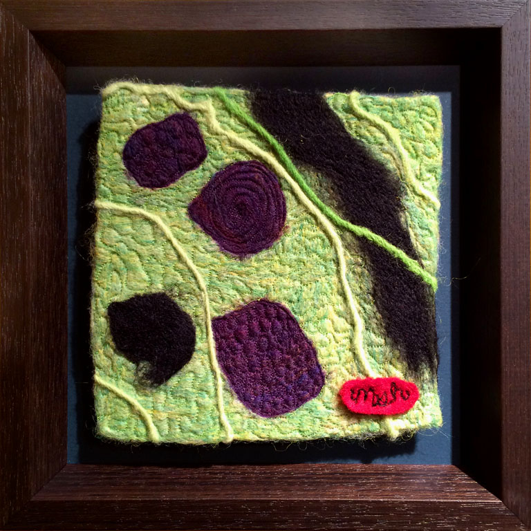 Dreams in Color Series #4 - Steam  6x6  needle felted wool  $95 fr