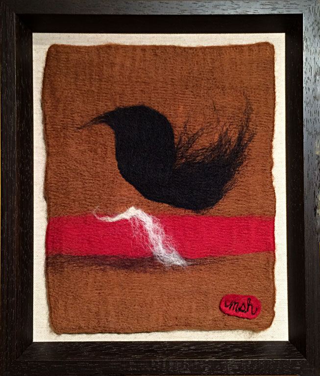 Dreams in Color Series #13 - Object  10x8  needle felted wool  $150 fr