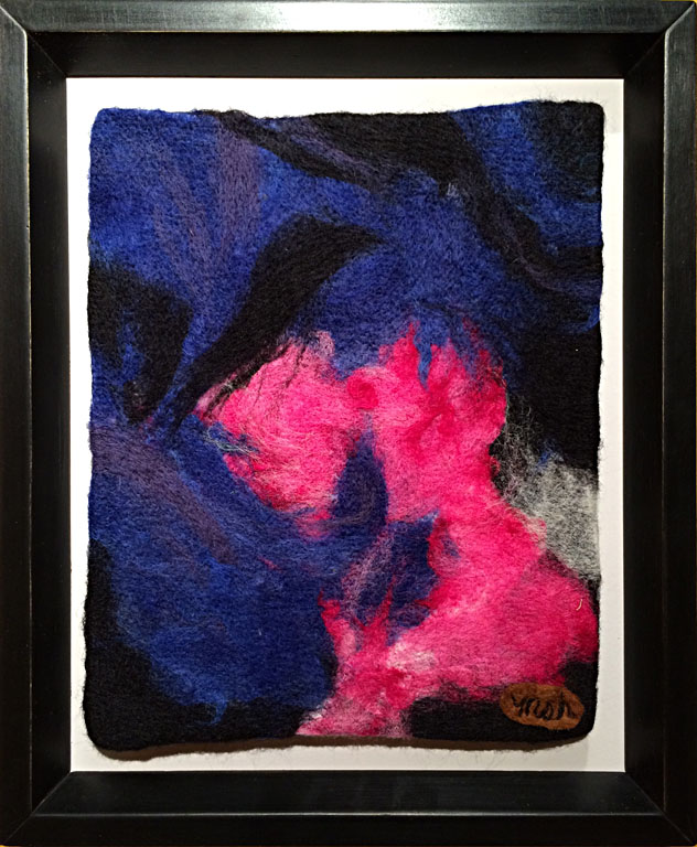 Dreams in Color Series #14 - Stoked  10x8  needle felted wool  $150 fr