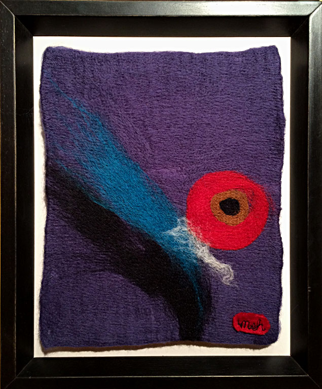 Dreams in Color Series #17 - Object  10x8  needle felted wool  $150 fr