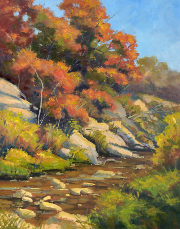 Autumn on Deep Creek  28x22  oc  $1,250