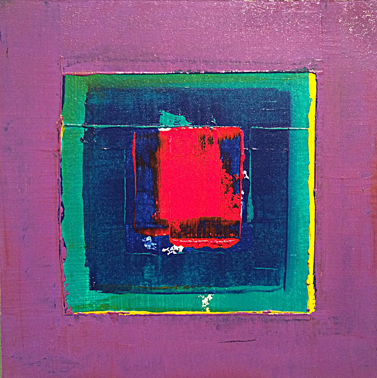 Red and Blue Enclosed By Purple  8x8  ap  $80
