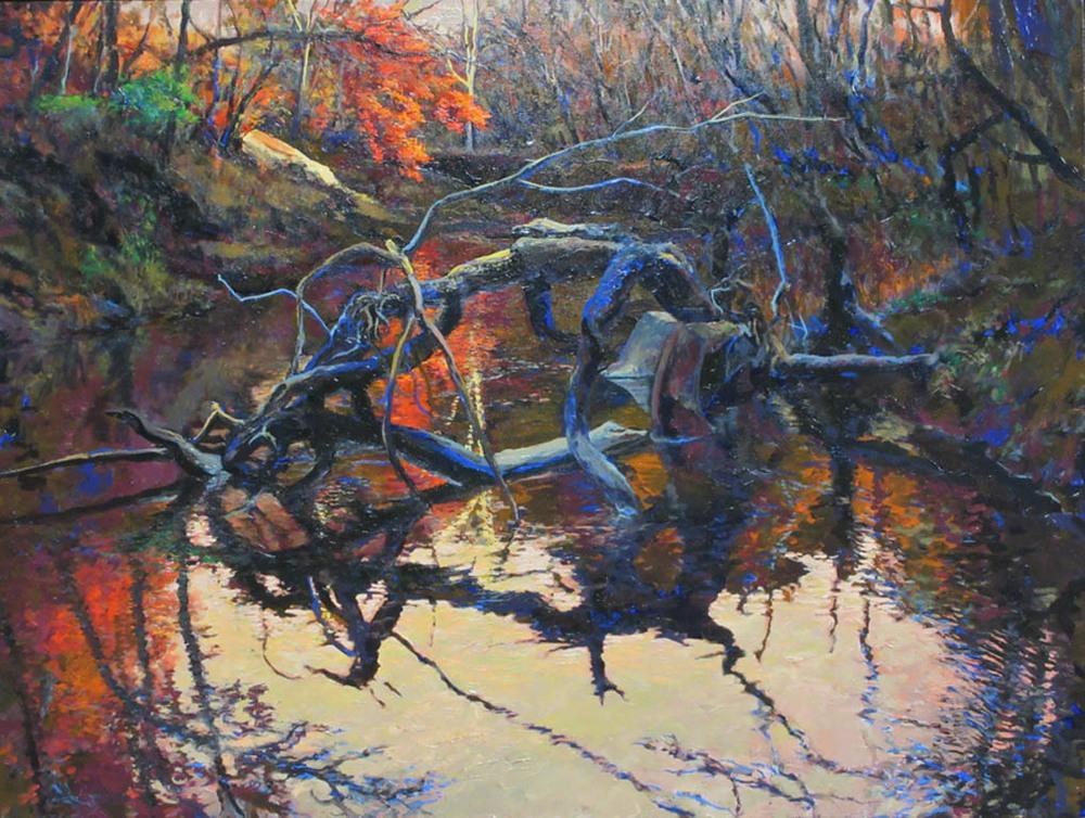Clear Fork Fallen Tree 48x36 oc $4,400