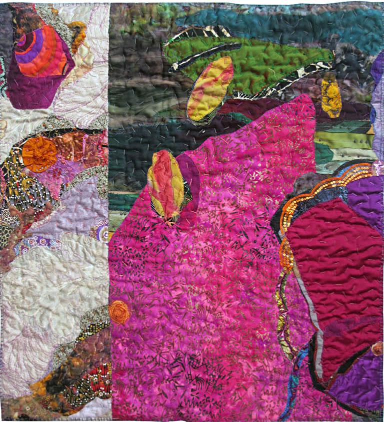 Dreamscape Two 20x24 textiles $275