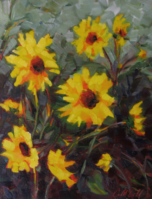 Summer Sunflowers  10x8  oc  $425