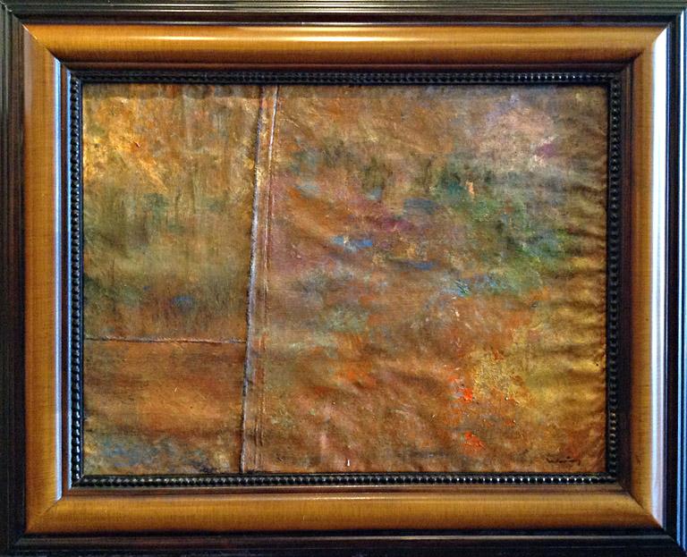 Fall, Kansas (triptych) 23.5x17.5 mm on silk $650 fr