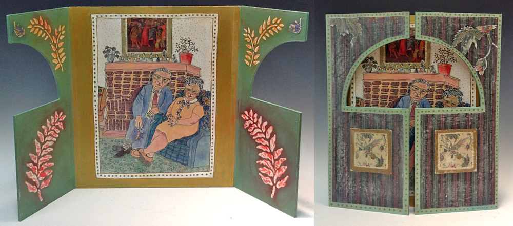 View Tri-Panel Paintings