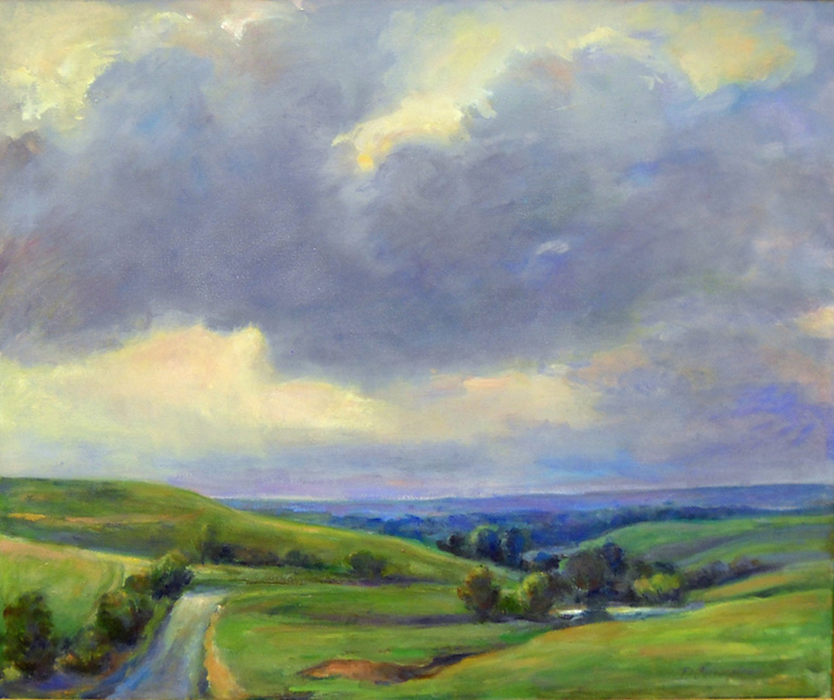 Flint Hills Overview  20 x 24  oc  $1,800