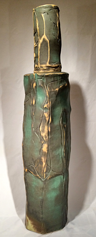 Chiminey Rock Bottle  53x11x11  ceramic  $3,250
