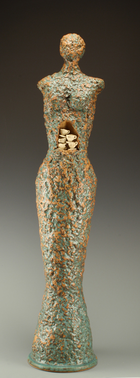 So Much to Say  40x8x8  ceramic  $1,200