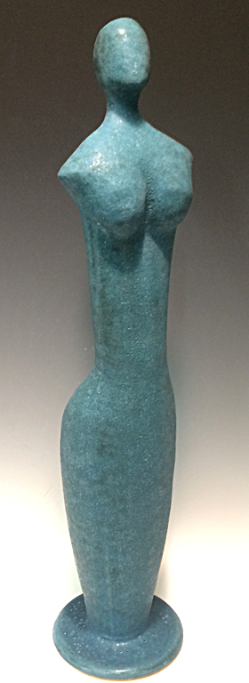 Blue Figure  21.5x4x4  ceramic  SOLD