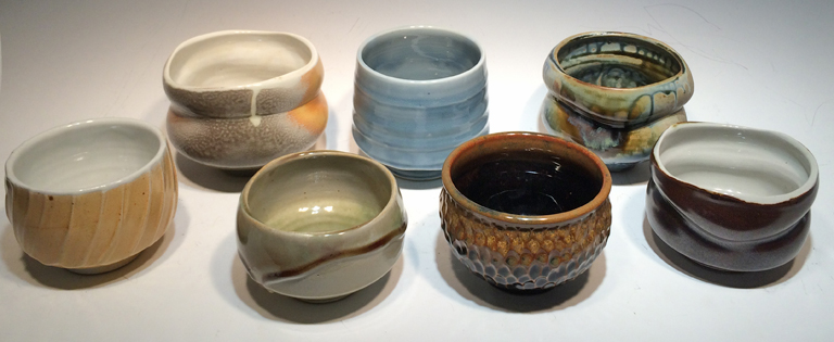 Assorted Tea Bowls  5-4 in.  ceramic  $60-$40 ea.
