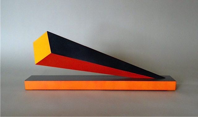 Cantilever Beam (The Wave Series)  8.5x21.5x3  polychrome wood  $600