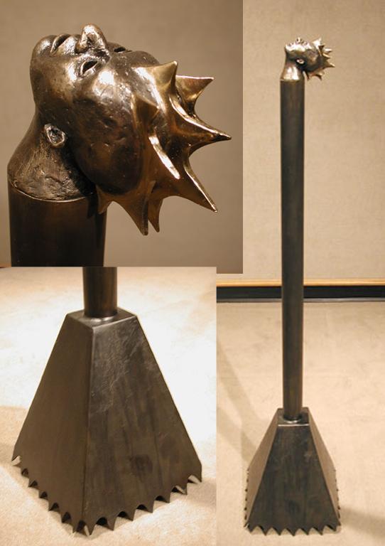 Blade 46.5x10x10 bronze, steel $3,500