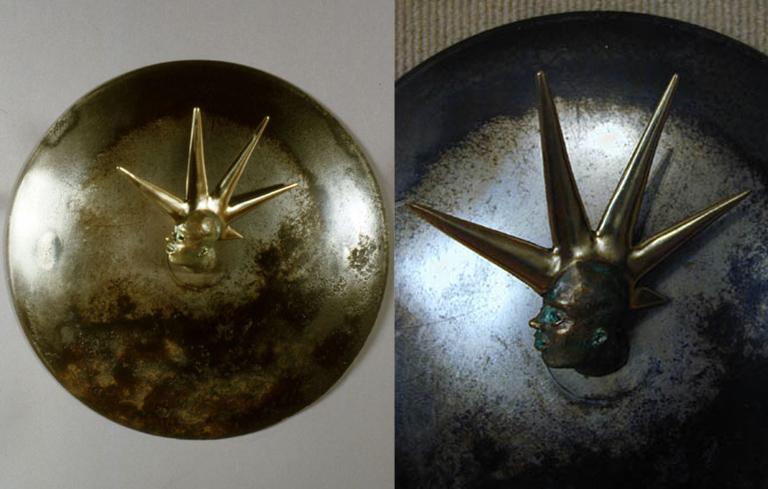 Five Spikes 11x11x4.5 bronze, steel $1,750