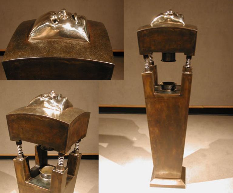 Golden Boy 46.5x12.5x14.25 bronze, steel $12,000