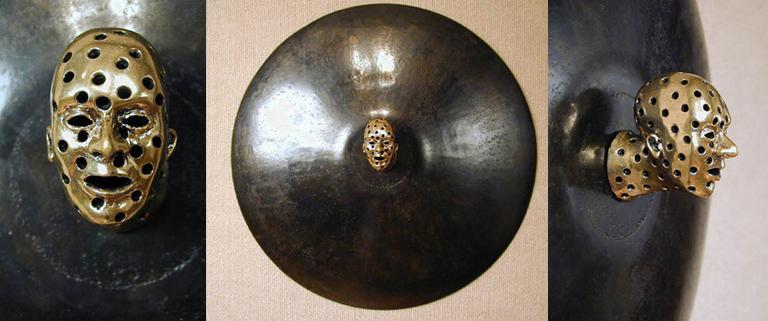 Head with Holes 19.75x19.75x5 bronze, steel $2,500