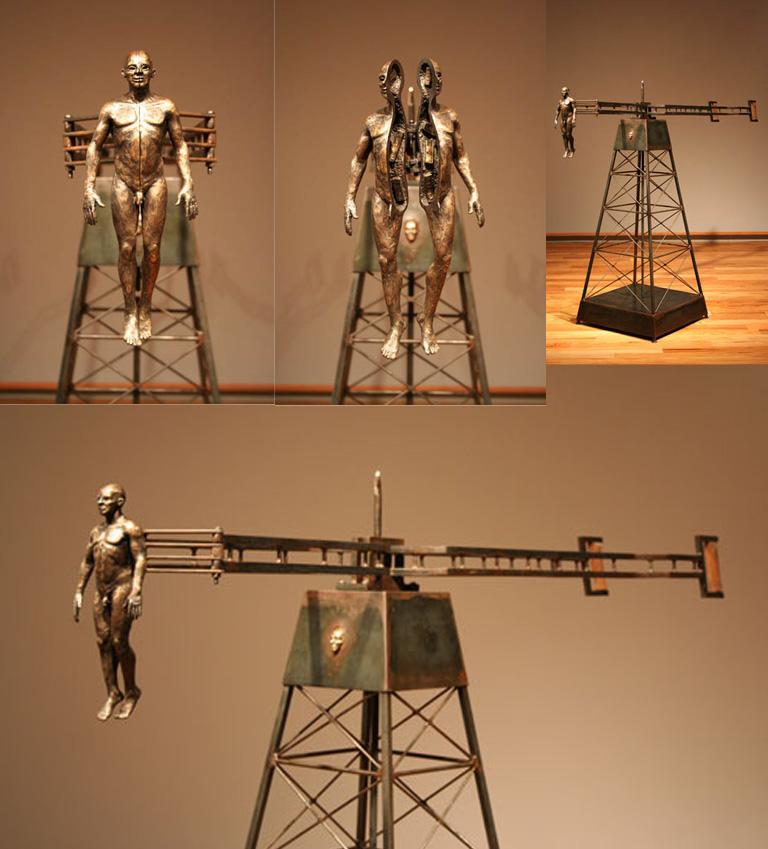 Hinged 50.5x64x21 bronze, steel $14,000