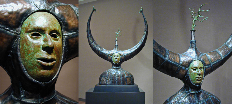 Torso with Tree 61x44.5x17 bronze, steel $8,000