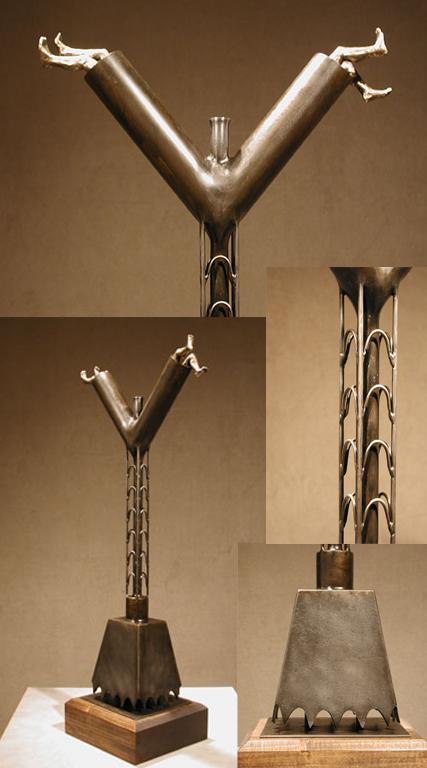 """""""Y"""" 36.5x16.5x9 bronze, steel $5,500"""