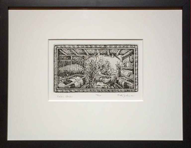 EXAMPLE OF FRAMED ETCHINGS All framed prints are in similar mat and frame.