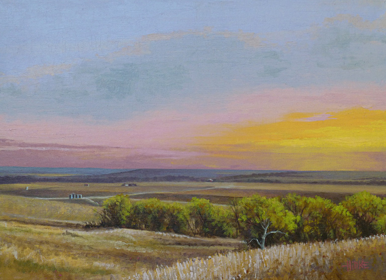 Dawn on Reece Road #1  16x22  oc  $1,250