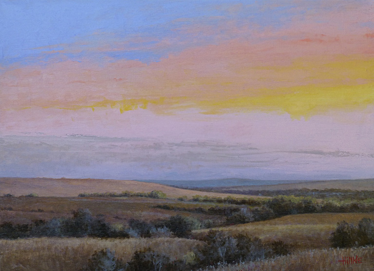 Dawn on Reece Road #3  16x22  oc  $1,250
