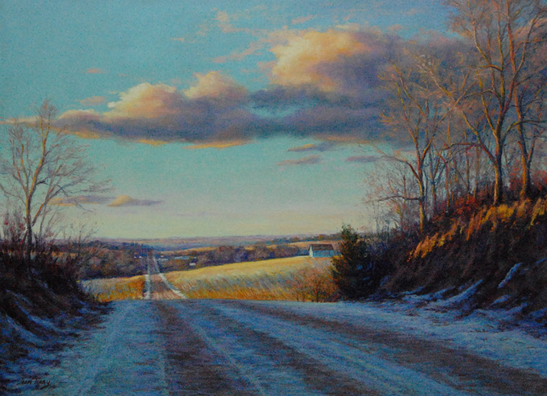 Road North 12 x 16  pastel  $460 fr