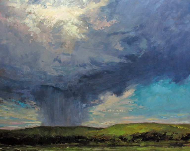 Distant Rains  16x20  op  $1,650 fr