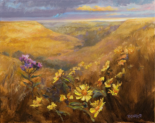 Golden Hills, Sunflowers 16x20 oc $1,850 fr