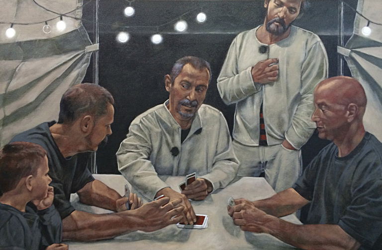 MMS The Card Players  24x36  oc  $1,800*