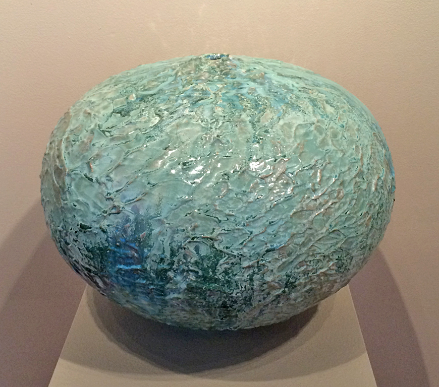 Green Prairie Pod 12x16x16 ceramic $625