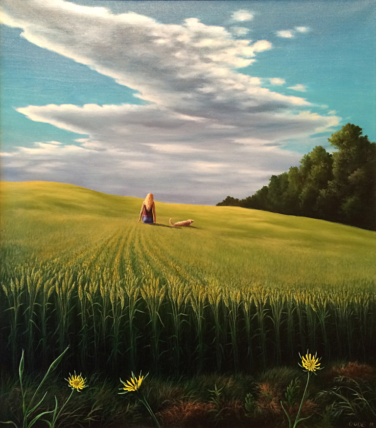 Turning of the Wheat 34x30 ob $6,000 fr