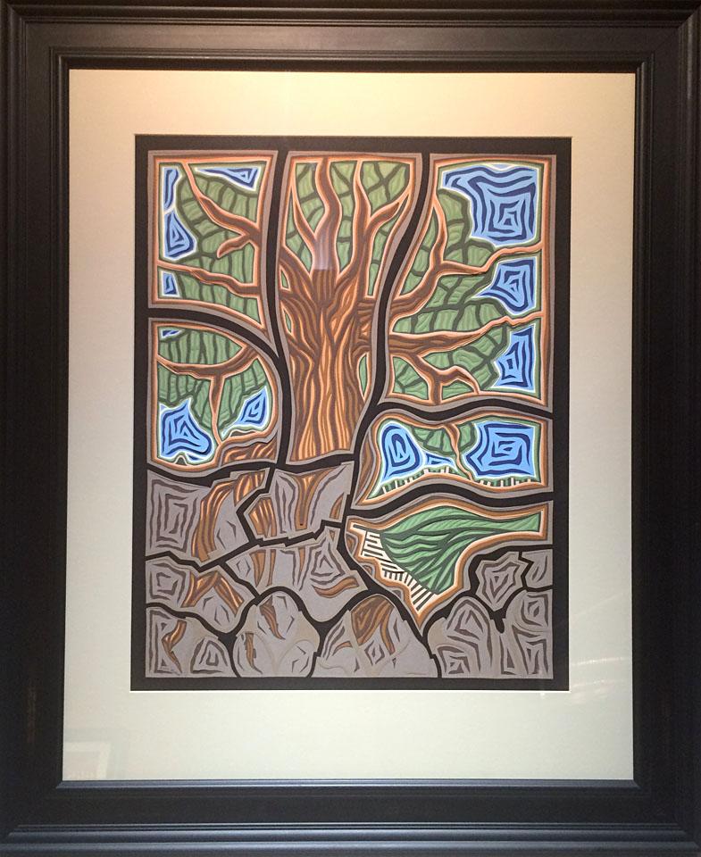 Tree 24x18 cut paper $1,500 fr