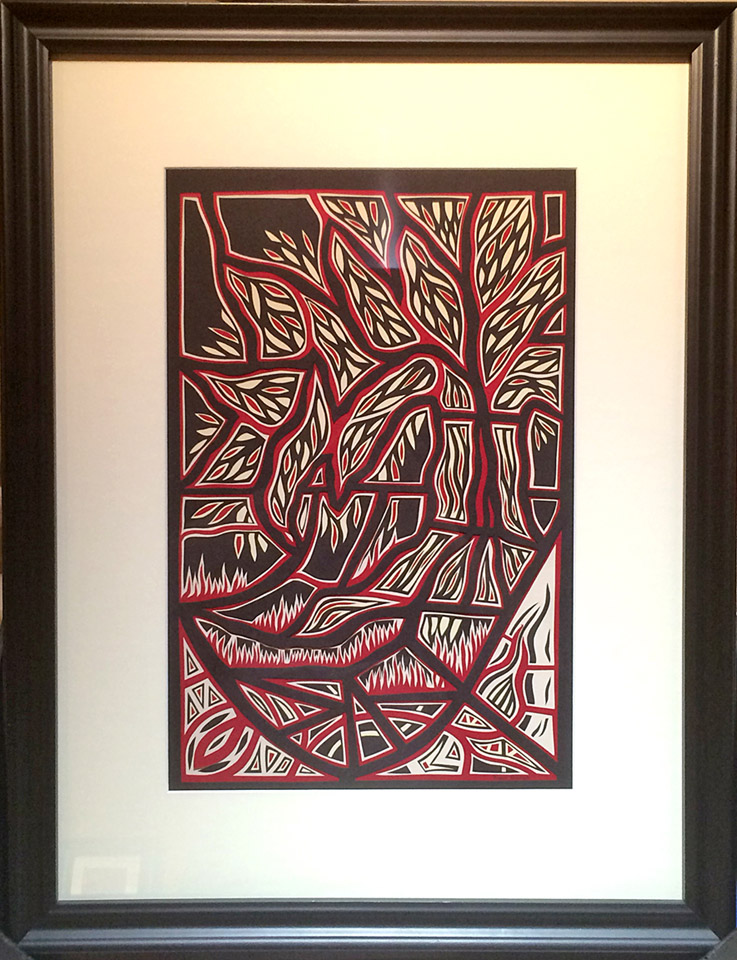 Tree II  17x11  cut paper  $600 fr